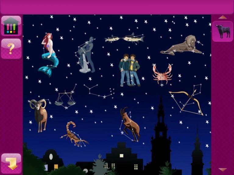 Die drei !!! - Picknickdrama – App, Minigame Sternenbilder