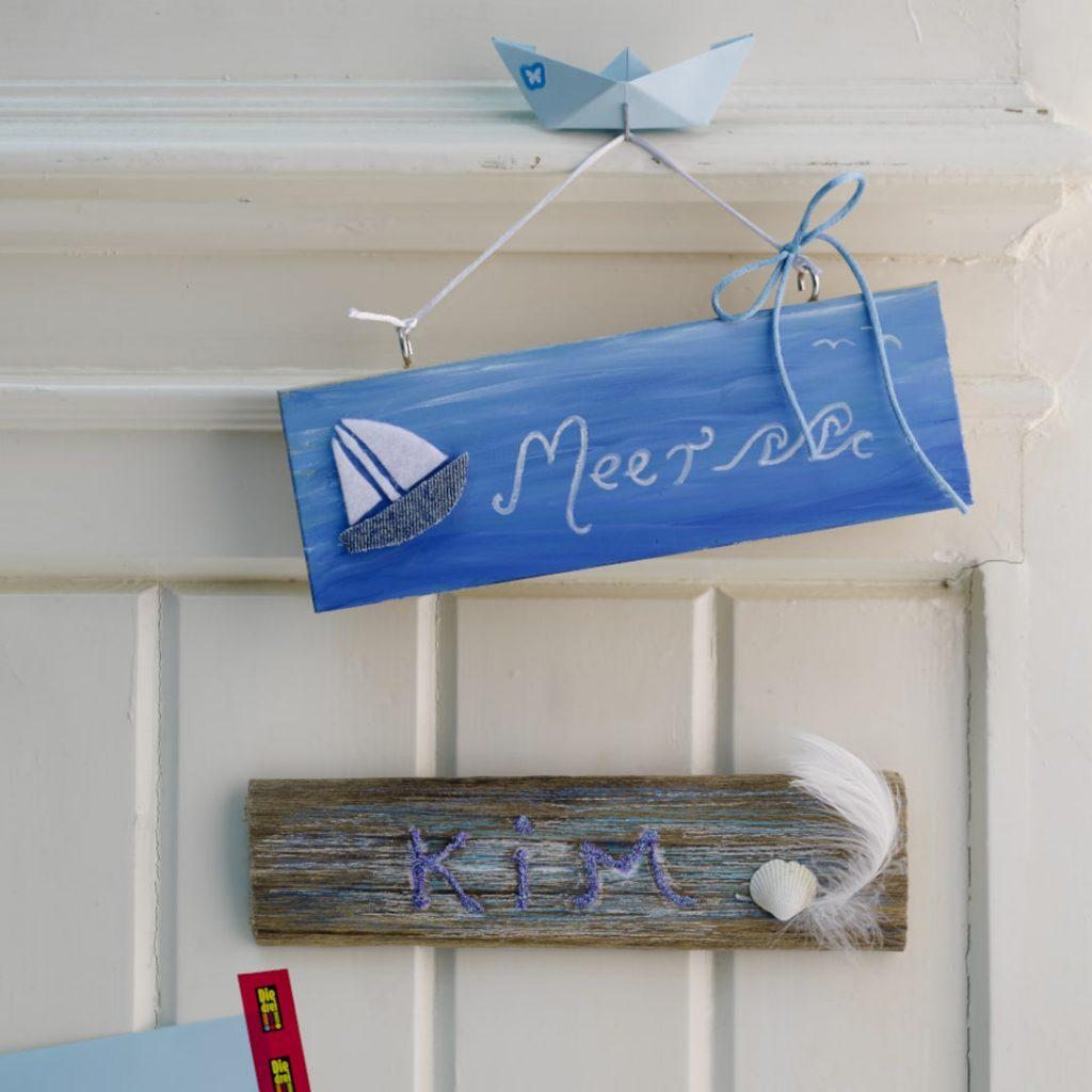DIY Türschild - Das Meer an der Tür